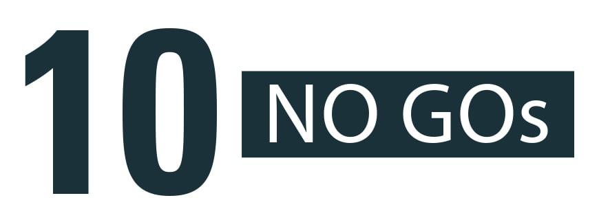 10 NO GOs für Ihr Bewerbungsgespräch
