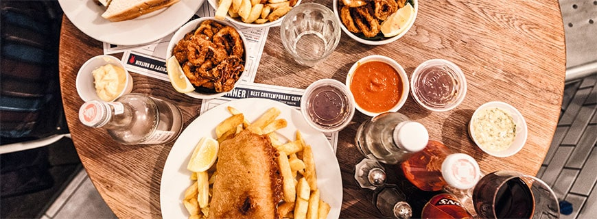 Old, but gold: Das berühmteste Fish-'n'-Chips-Restaurant des Landes ist das Kerbisher & Malt in London