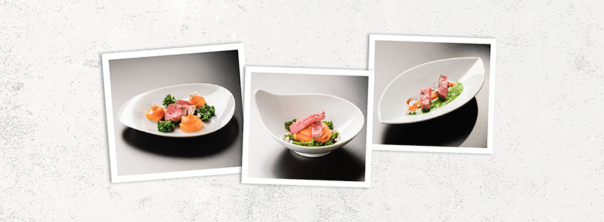 Ein Gericht – viele Möglichkeiten: Mit dem Teller ändert sich nicht nur die Anrichteweise, sondern auch der Charakter der Speise