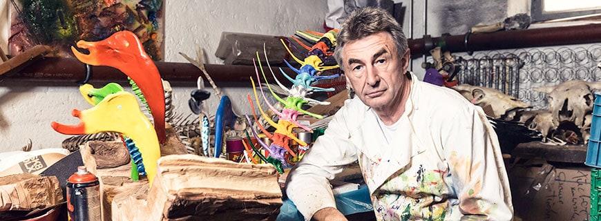 Tantris-Küchenchef Hans Haas in seinem Atelier