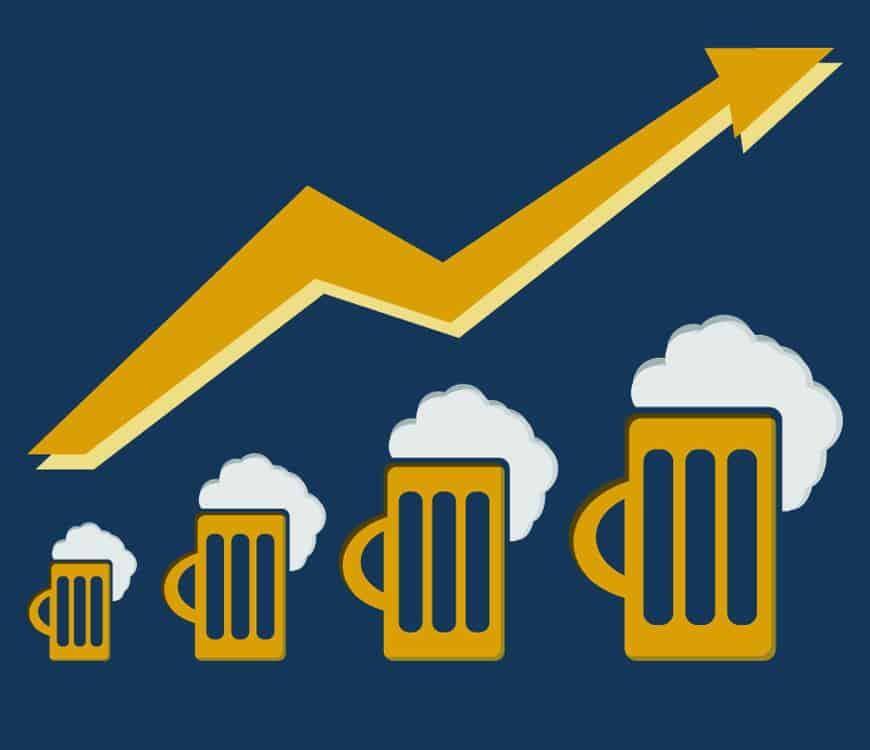 Biergenuss schnellt nach oben