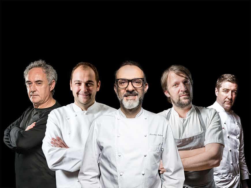 küchenchef elite: Ferran Adrià, Daniel Humm, Massimo Bottura, René Redzepi und Joan Roca
