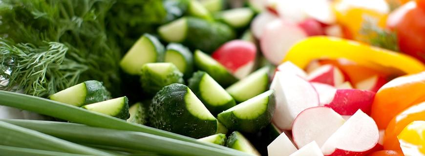aufgeschnittenes Gemüse