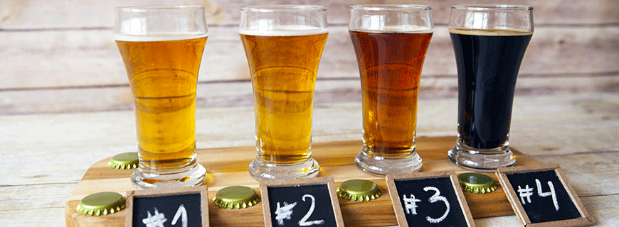 Bier Verkostung
