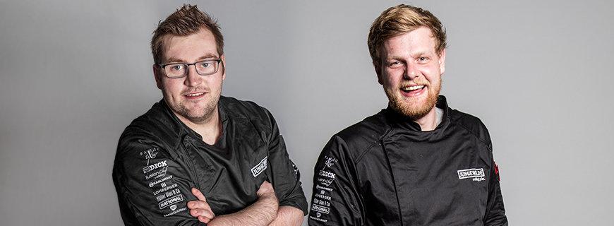 JUNGE WILDE-Finalisten Michael Just (li.) und Stefan Glantschnig