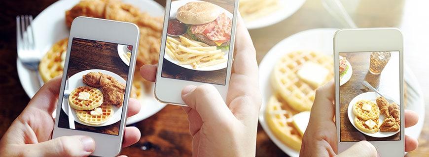 Fotografieren von Essen