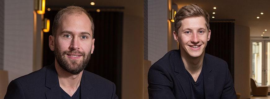 Philipp Neumeister (li.) und Carsten Werblow, Gambino Hotels