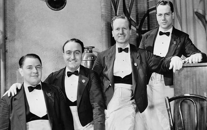 Vier Männer im Vrack