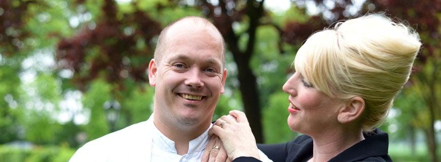 Küchenchef Jarno Eggen mit Sommelière Cindy Borger