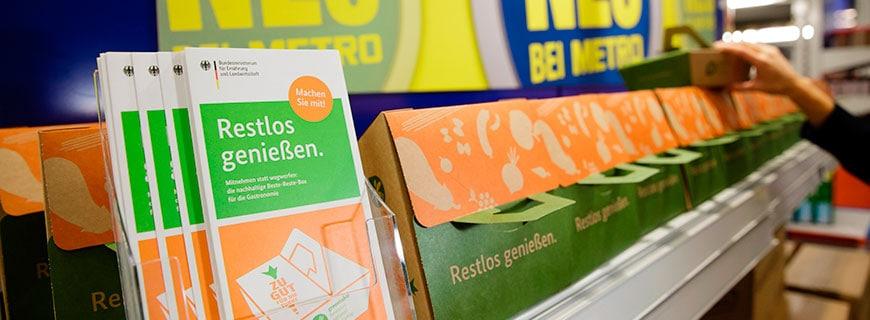 Beste-Reste-Boxen in den Verkaufsregalen