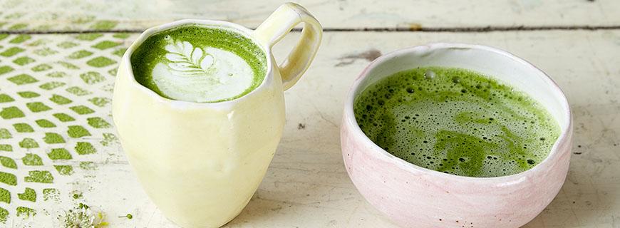 Matcha-Tee, frischgepresste Säfte und ganz viel Gemüse.
