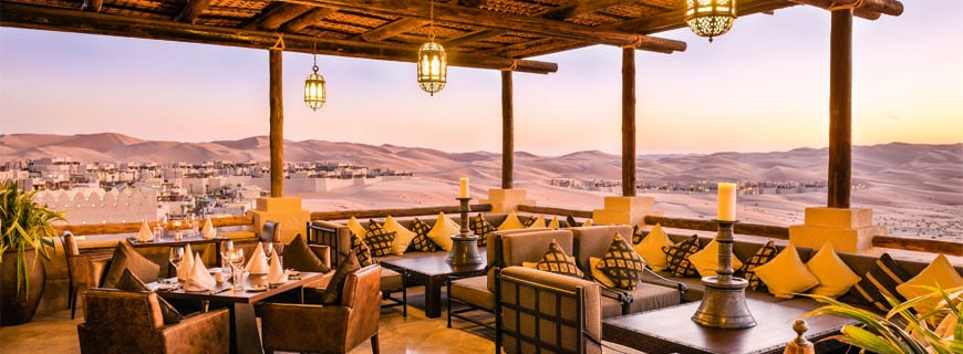 Suhail Terrace des Qasr Al Sarab Desert Resorts