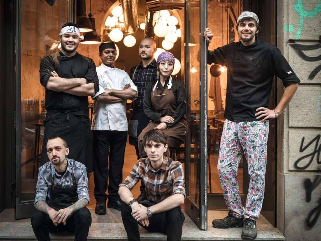 Das Team vom Kanpai in Mailand.
