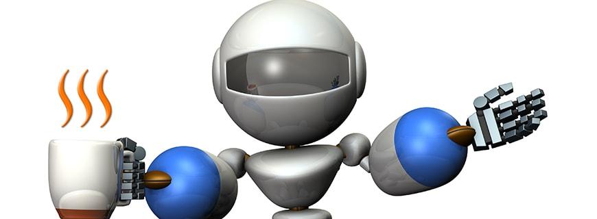 Roboter serviert Kaffee