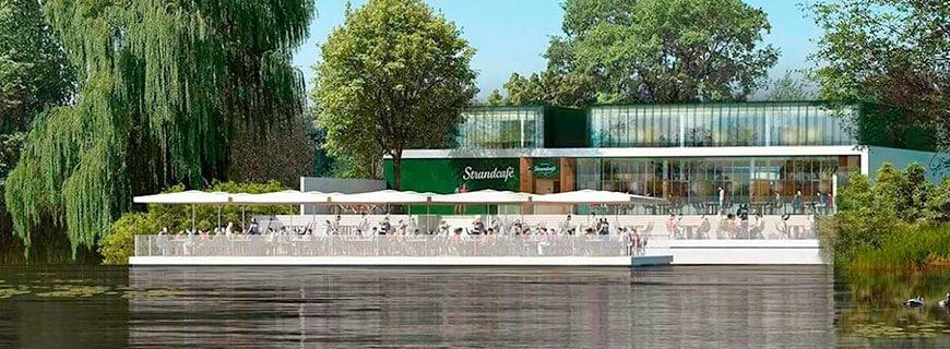 Rendering Strandcafé Alte Donau Wien