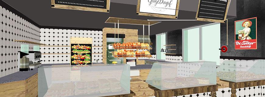 Visual des Eingangsbereichs: So soll es im Café aussehen.