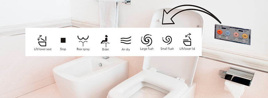 Neue WC-Symbole in Japan