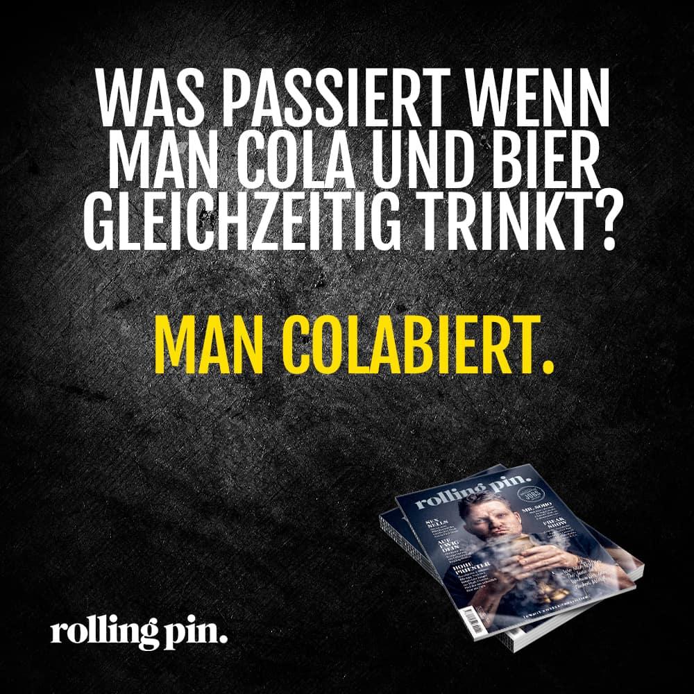WAS PASSIERT WENN MAN COLA UND BIER GLEICHZEITIG TRINKT? - MAN COLABIERT!