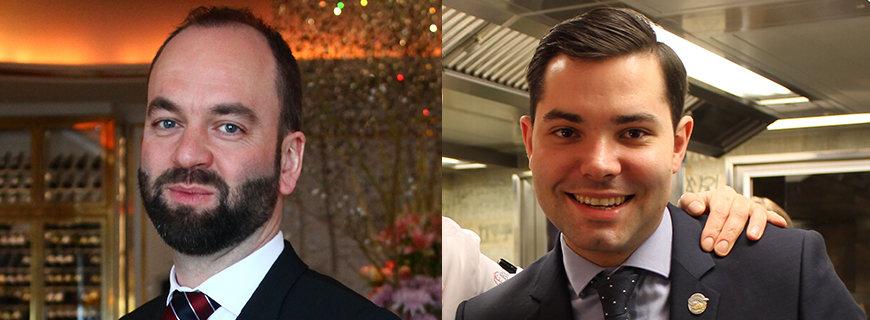 Restaurantleiter Thomas Andrew (li.) und Sommelier Marcel Ribis