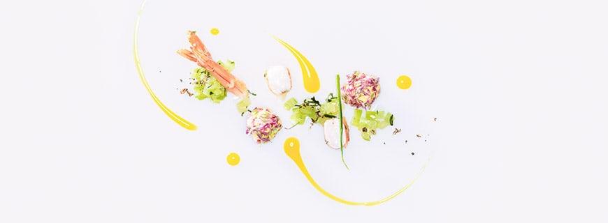 Kleeblüten | Papayasalat | Gambas | Frischkäsepraline