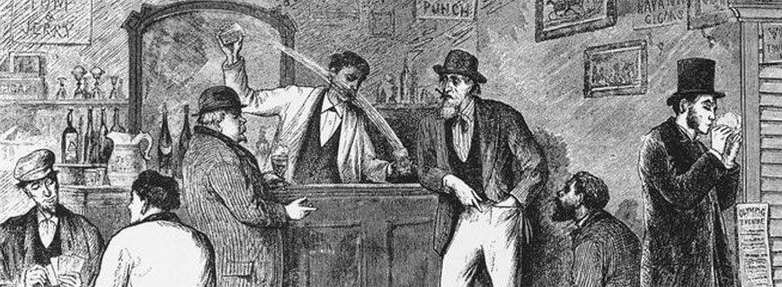 Barkeeper in der guten alten Zeit