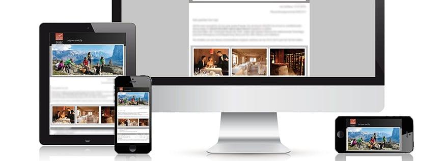 Trends für Webseiten und Gästemails