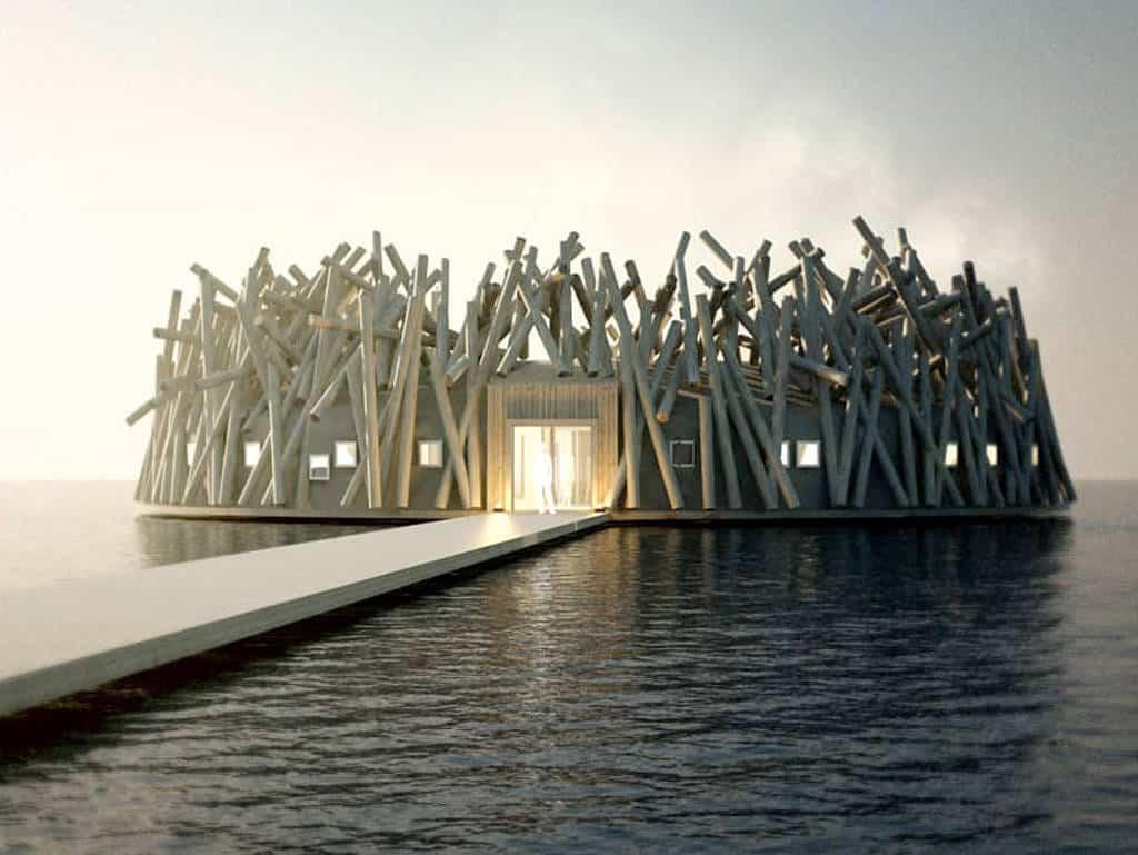 ArcticBath, Schweden, Harads, schwimmendes Hotel