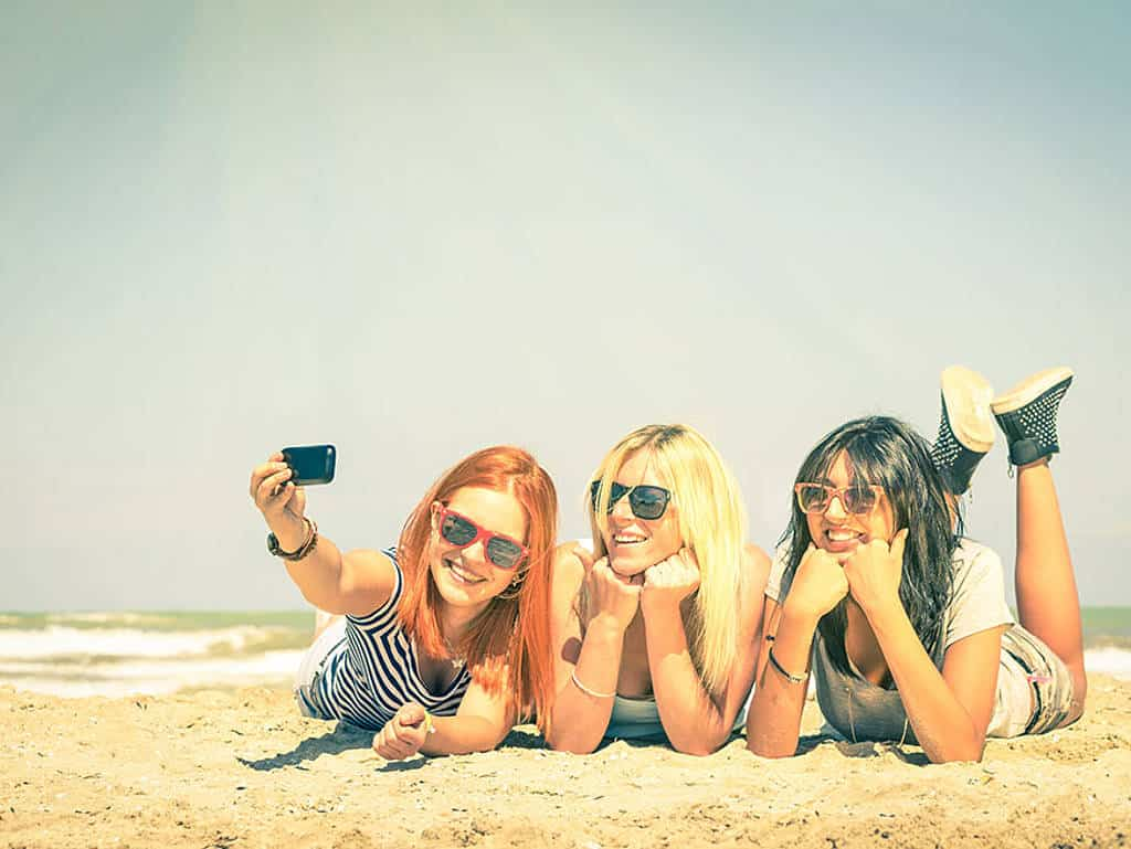 Das perfekte Foto am Strand ist dank dem Instagram-Bulter kein Problem!