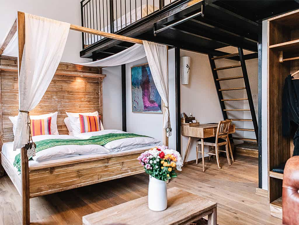 Ein Hotelzimmer des Hotel Guldsmeden