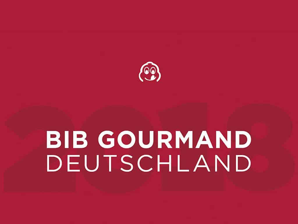 """Guide Michelin """"Bib Gourmand Deutschland 2018"""""""