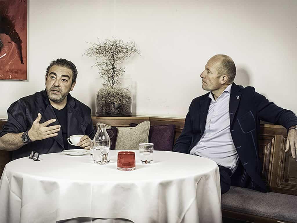 Juan Amador und Arno Wohlfahrter im Gespräch