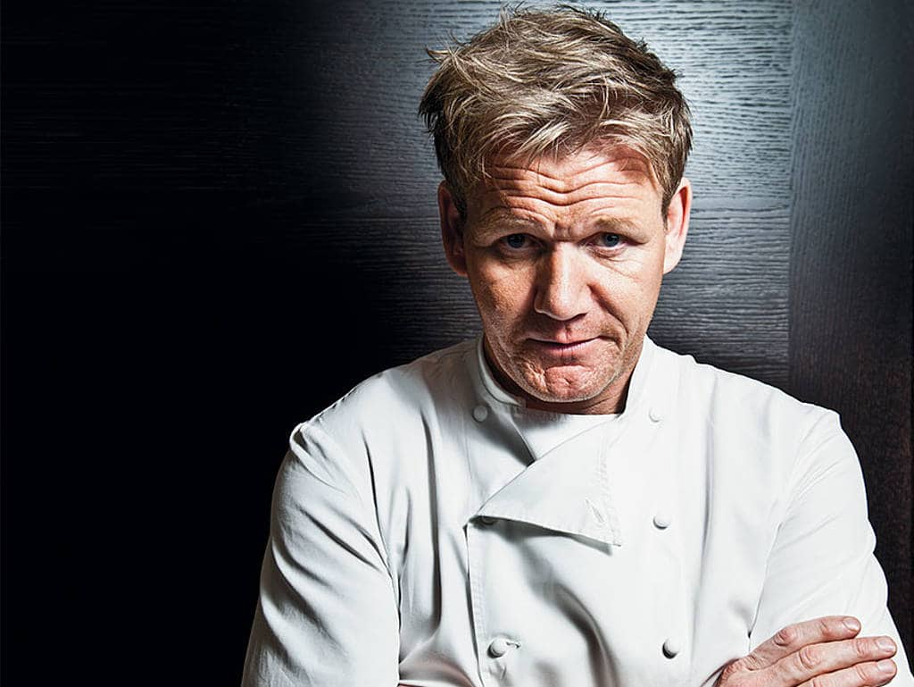 Gordon Ramsay in einer Kochjacke