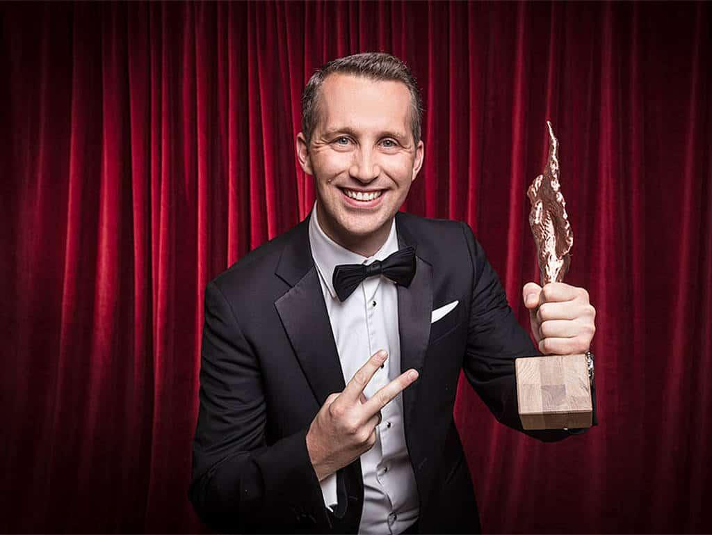 Philipp Borckenstein von Quirin bei den ROLLING PIN-Awards.
