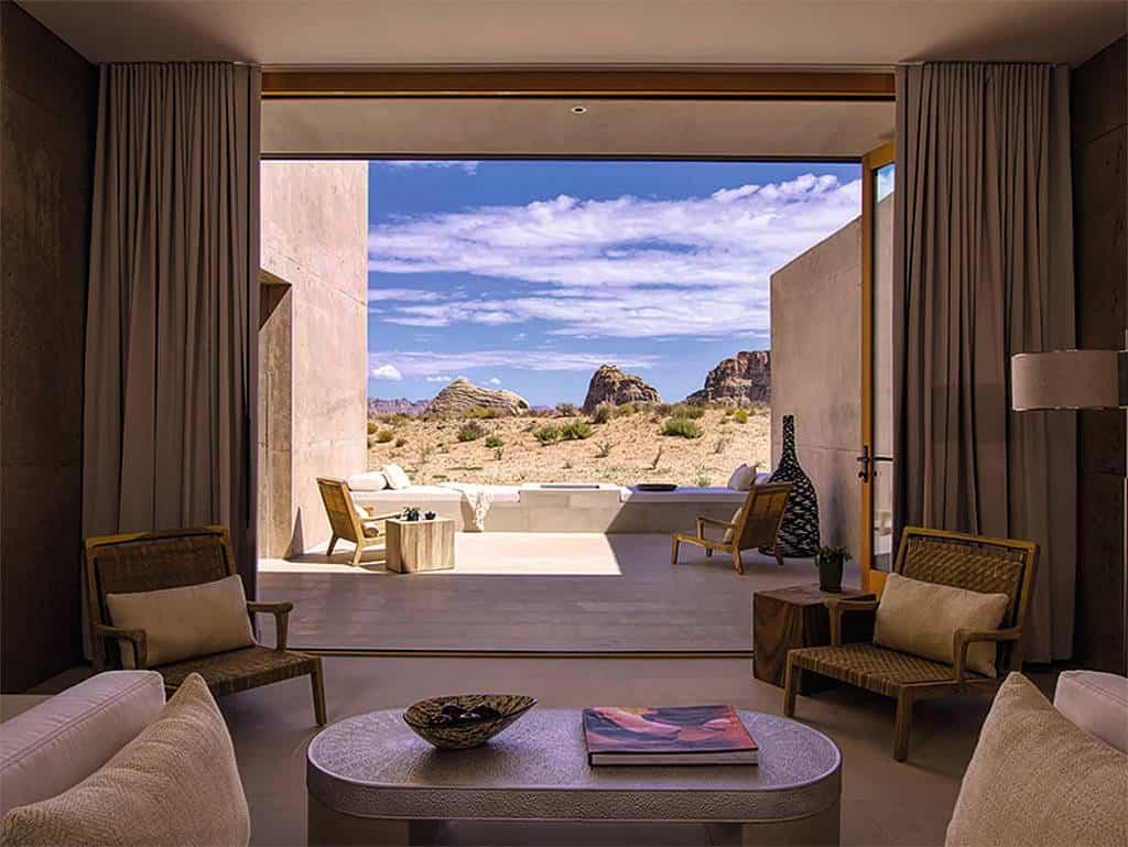 Sandig: Ausblick auf die Wüste.