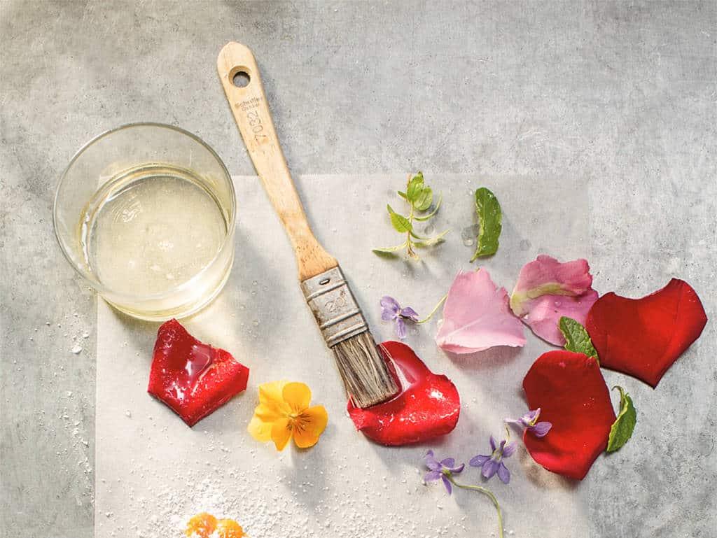 Kandierte Blüten: Richard Rauch setzt Blüten gekonnt in Szene (erschienen im Jahreszeitenkochbuch Frühling, Brandstätter Verlag)