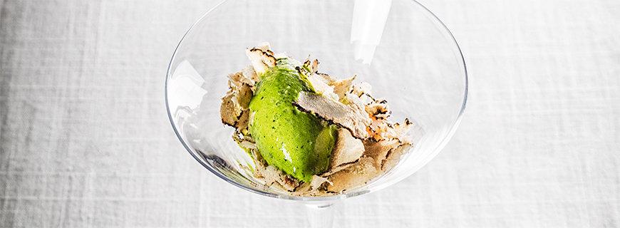 Spinat-Eis mit Trüffel