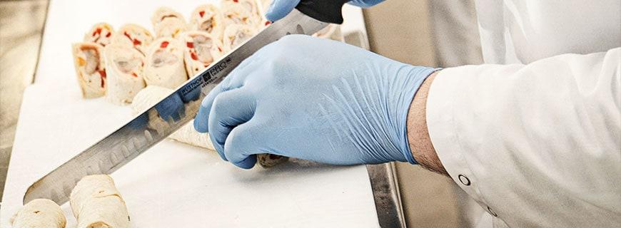 Fingerfood im Herstellungsprozess