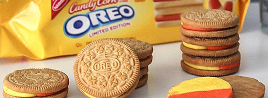 Oreo-Kekse mit Candy Corn
