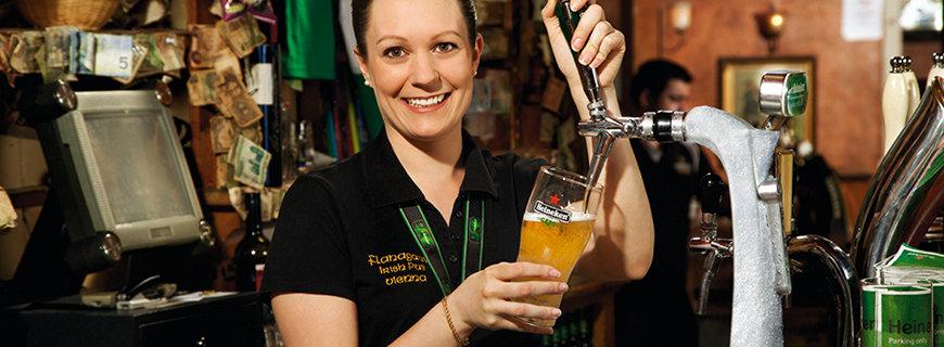Heineken on draught