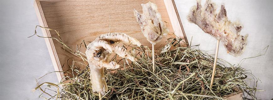 Rezept für Knusprige Hühnerkämme und -krallen