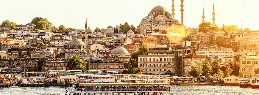 Die türkische Hauptstadt bei Sonnenuntergang