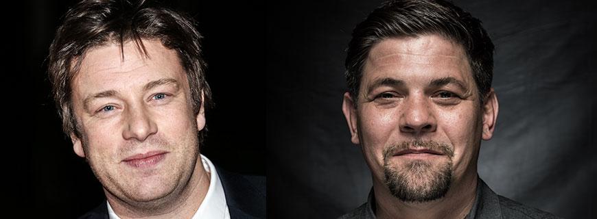 Jamie Oliver und Tim Mälzer