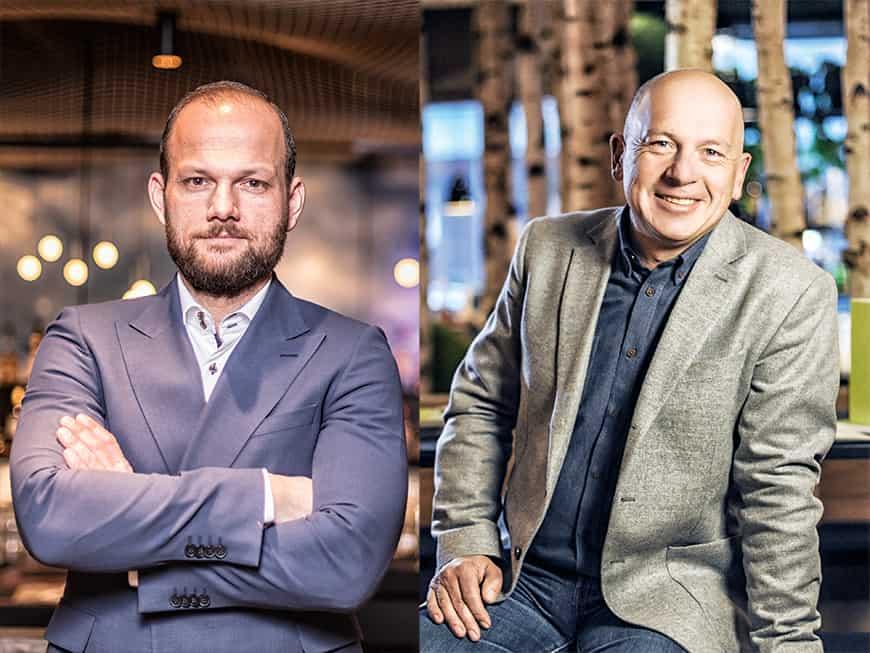 Patrick Junge (li.) und Hans-im-Glück-Gründer Thomas Hirschberger (re.).