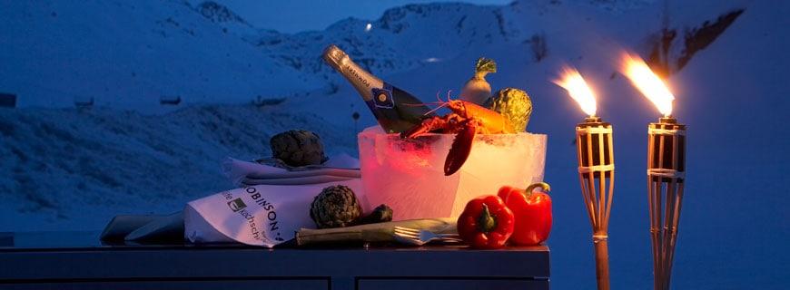 champagner und fackeln