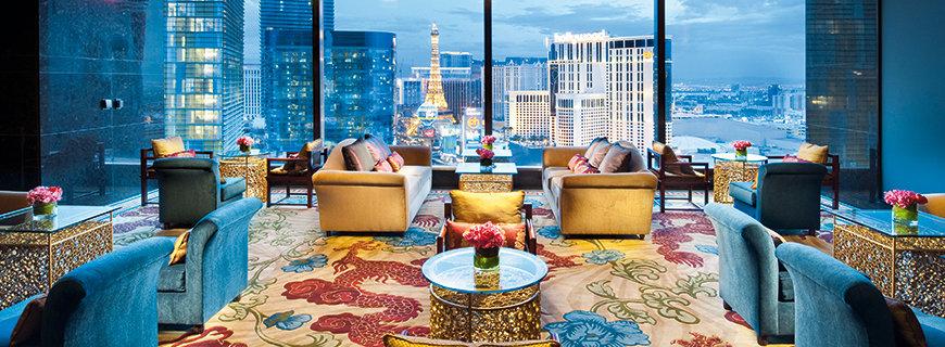 Las Vegas aus einer Suite aus gesehen