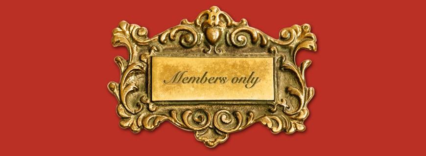 Members only Schild
