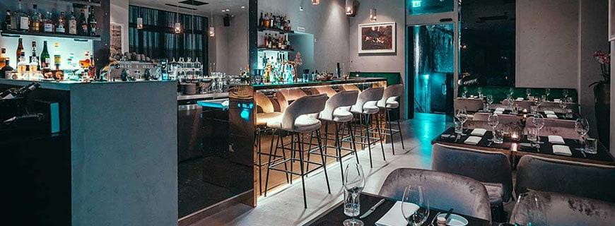 Bar und Restaurant in einem: Im Restaurant Kitch passt das Design zum Casual-Dining-Gedanken.