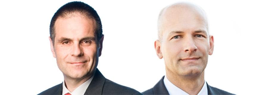 Metro-Geschäftsführer KLaus Sauer und Marc Groenewoud