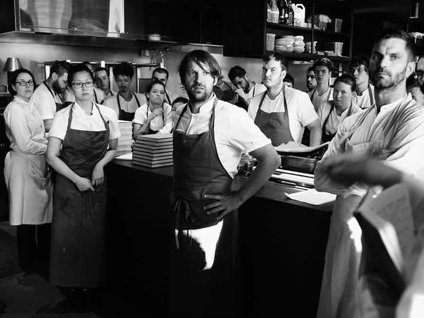 René Redzepi mit Küchenteam