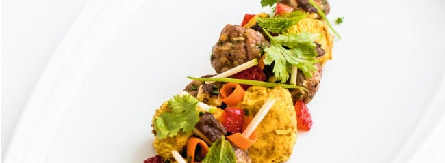 Vietnamese apple kebab